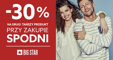20180522_BIG STAR_30% znizki na drugi produkt_390x208